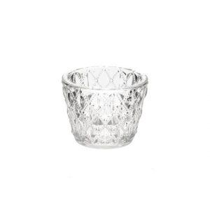 11035218 Clear glass tealight holder 7.5cm CB