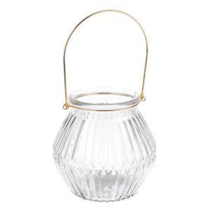 11109414CB Clear Glass Lantern 15cm