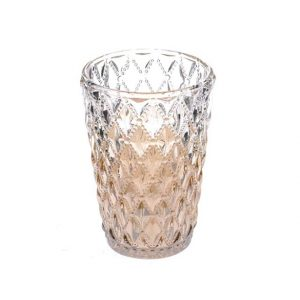 11117310 Antique glass tealight holder 11cm