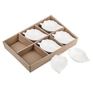 11131866CB Set of 6 Leaf Dishes