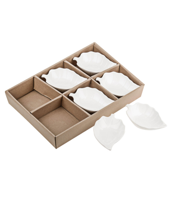 11131866CB Set of 6 Leaf Dishes