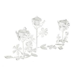 11140172CB Flower Candle Holder 30.5cm x 13.5cm