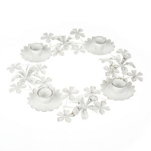 11140196CB Flower Candle Holder 32cm x 4.5cm