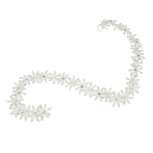 White Metal Flower Garland Large - Gifts, decorations and ...