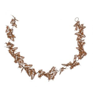 11171572CB Rusty Metal Butterfly Garland 110x8x7cm
