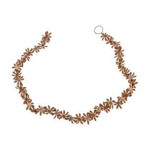 11171664CB Rusty Metal Flower Garland 110x4x3cm