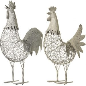 22151R Metal Chicken 48cm