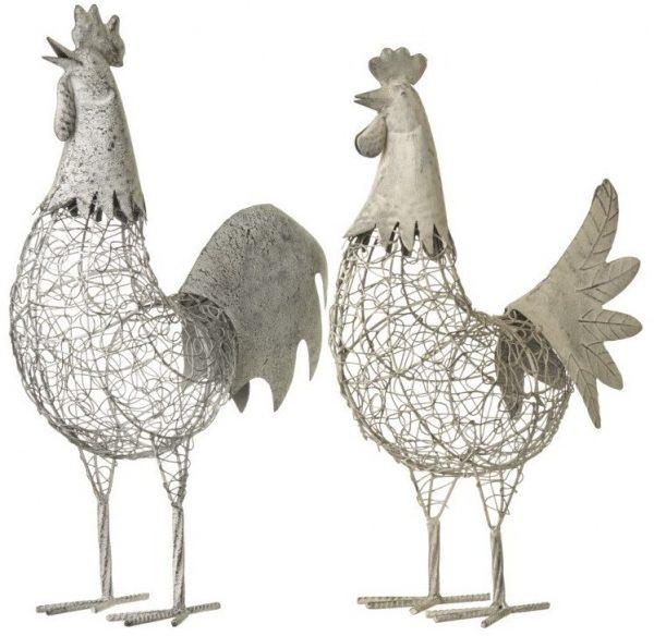 22151R Metal Chicken 48cm
