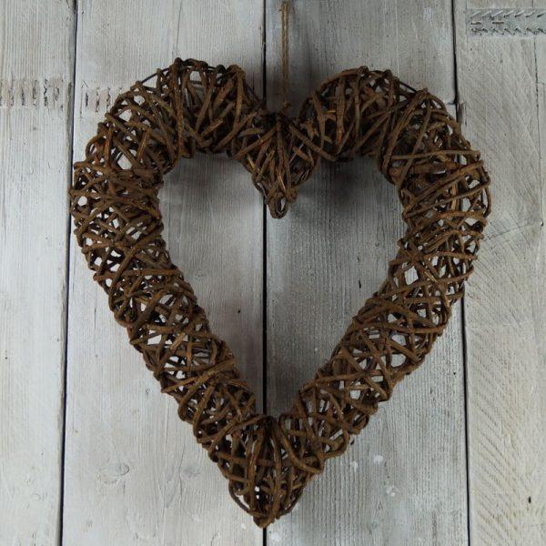 25055R Rattan Heart 50cm