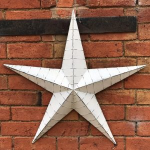 37525R White Metal Barn Star 73.5cm