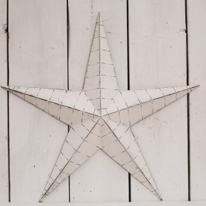 37525R White Metal Barn Star 73cm