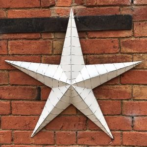 37526R White Metal Barn Star 52cm