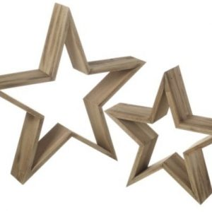 37631R Set Of 2 Wooden Hearts 40cm