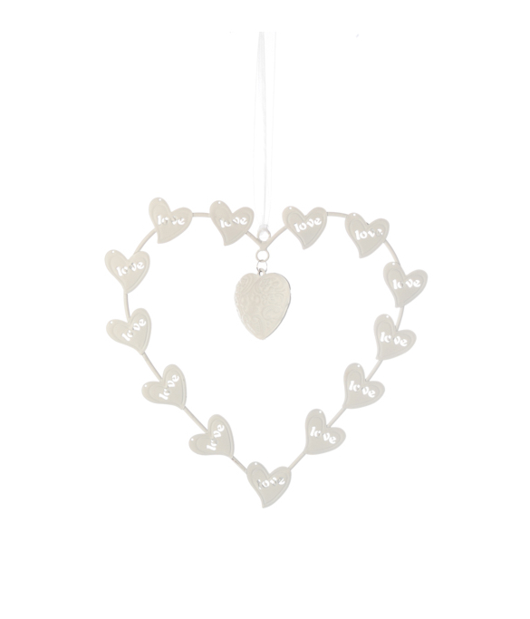 998324CB Metal Decorative Heart 23cm x 21cm