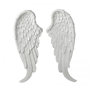 KCC906HS White Angel Wings 18x3.5x48cm