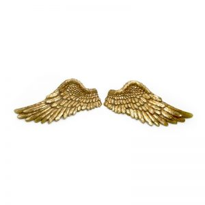 XCF065HS Gold angel wings set 42x6x21cm