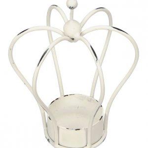 31433R White Crown Tlight Holder