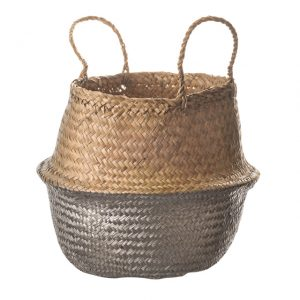 11155909CB Belly basket 30cm silver