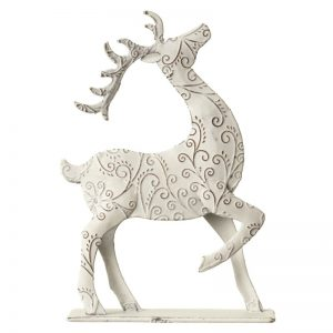24804R Metal Reindeer Decoration