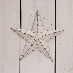 37527R White Barn Star 34cm