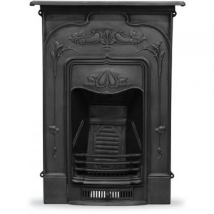 HEF247/RX503 Jasmine Fireplace Black