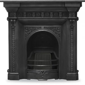RX249 Melrose Fireplace Black