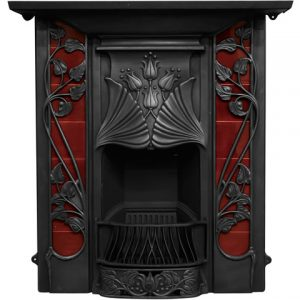 RX254 Toulouse Fireplace Black