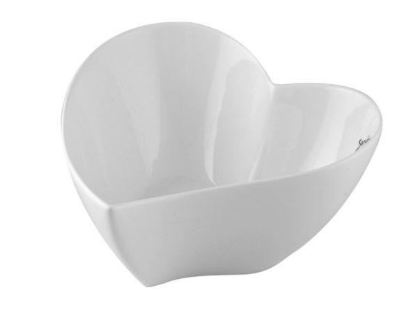 159017CB Sandra Rich Porcelain Heart Bowl 7x17x17cm