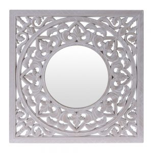 KOONB1601040CB Mirror & White Wood Cut Out